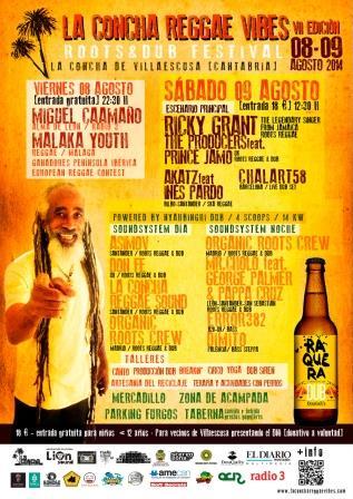 LA CONCHA REGGAE VIBES 2014 cartel web