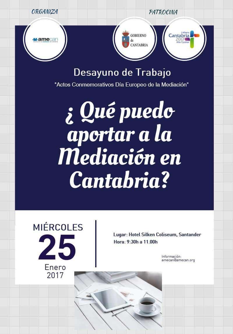 cartel Desayuno de Trabajo Dia Mediación 2017